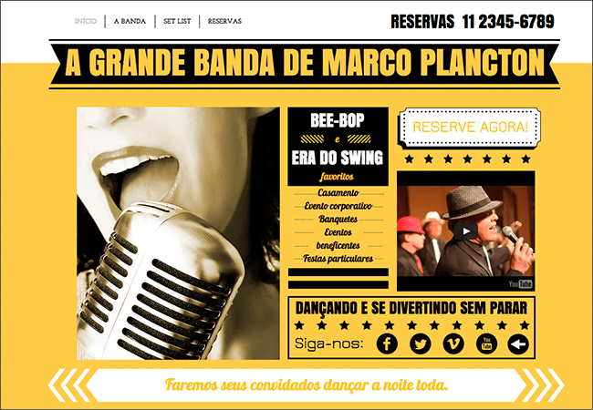 Template Wix - Banda de Swing