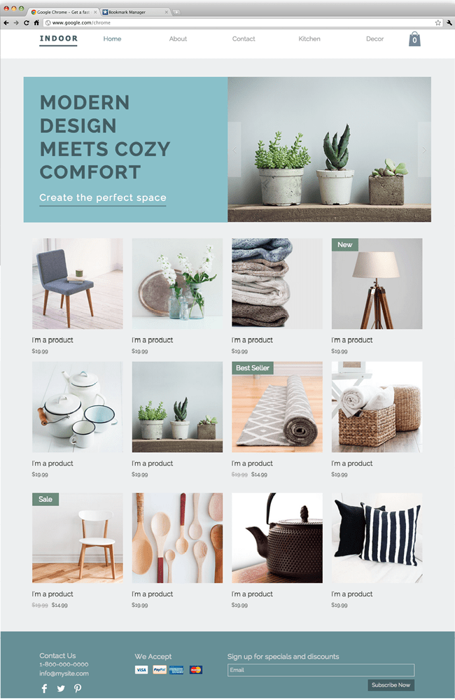 Wix - Home Decor
