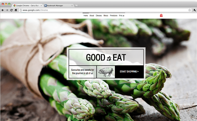Wix - Gourmet Food Shop