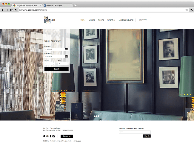 Wix - Hotel Moderno