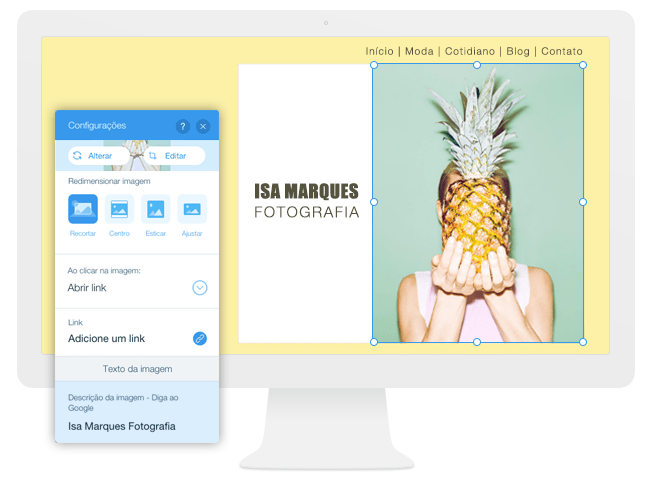 Adicionando Imagens ao Seu Site - Editor Wix