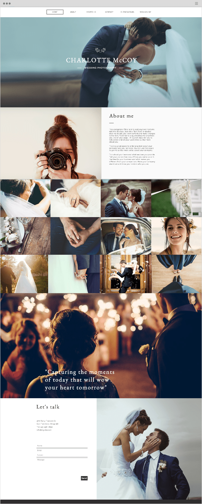 Wedding Photography Wix Website Template