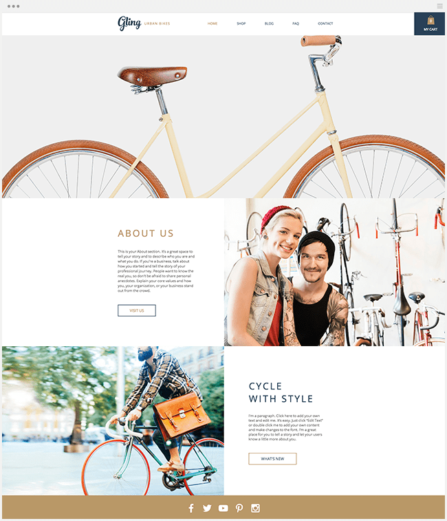 Template Wix - Bicicletas Urbanas