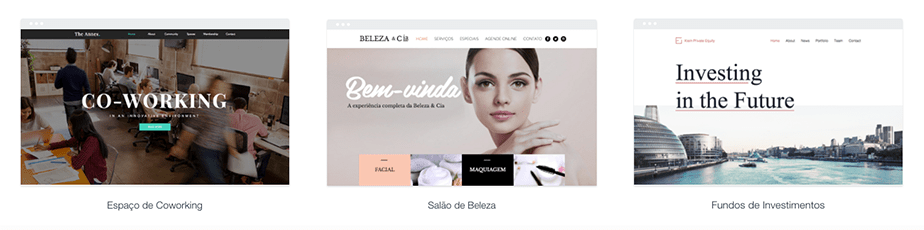 Templates para sites de negócios
