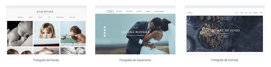 Templates para site de fotografia