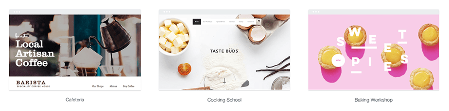Templates para sites de restaurante