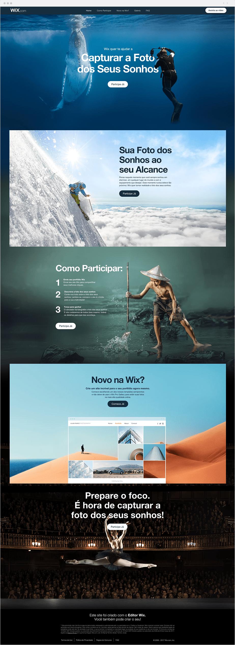 Exemplo de Landing Page