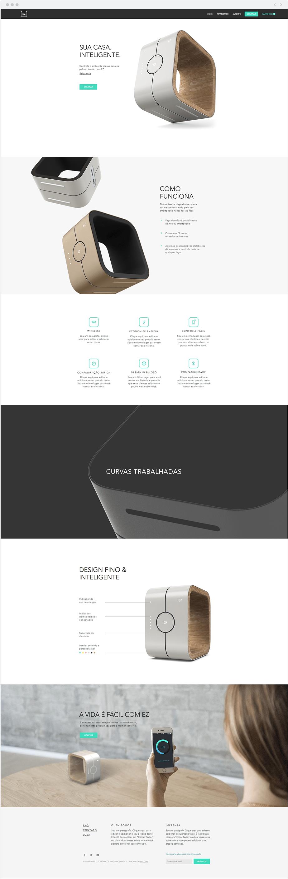 Template Wix Loja de Eletrodomésticos