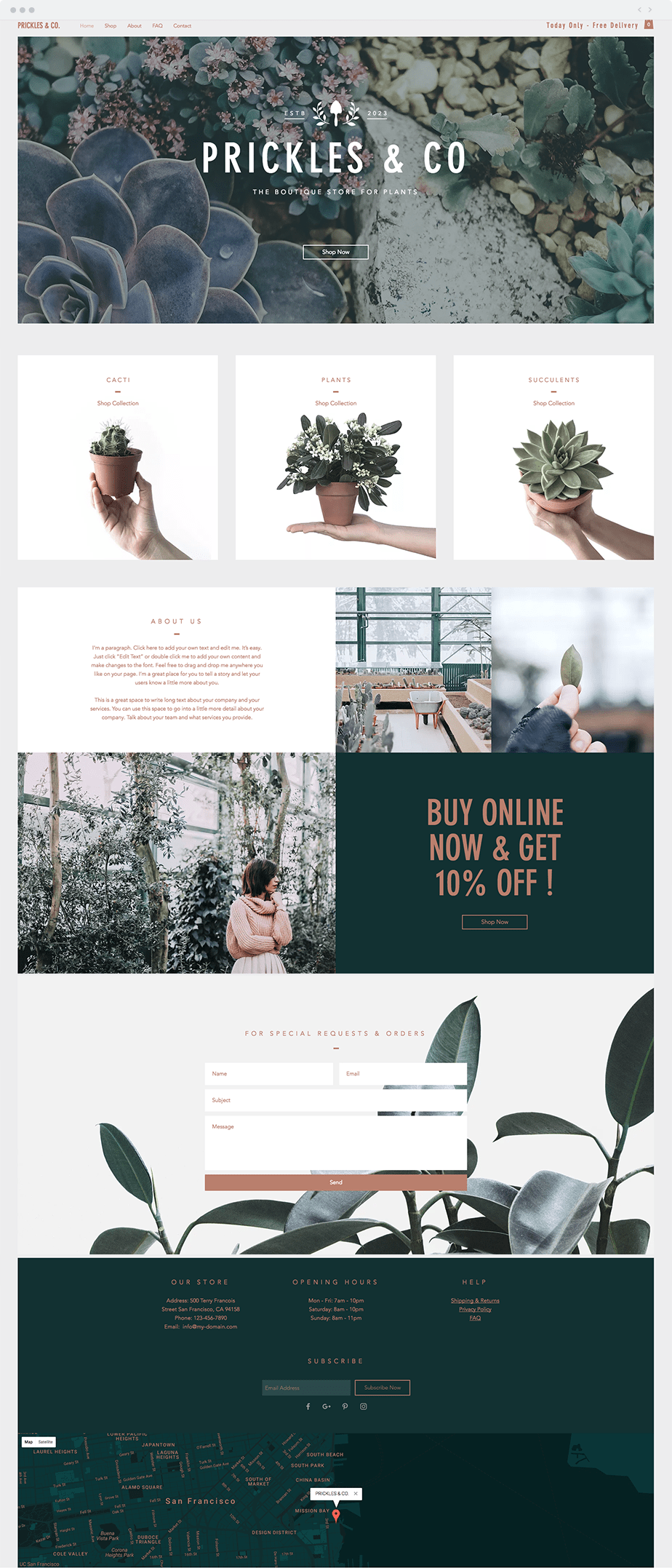 Template Wix Plants Boutique