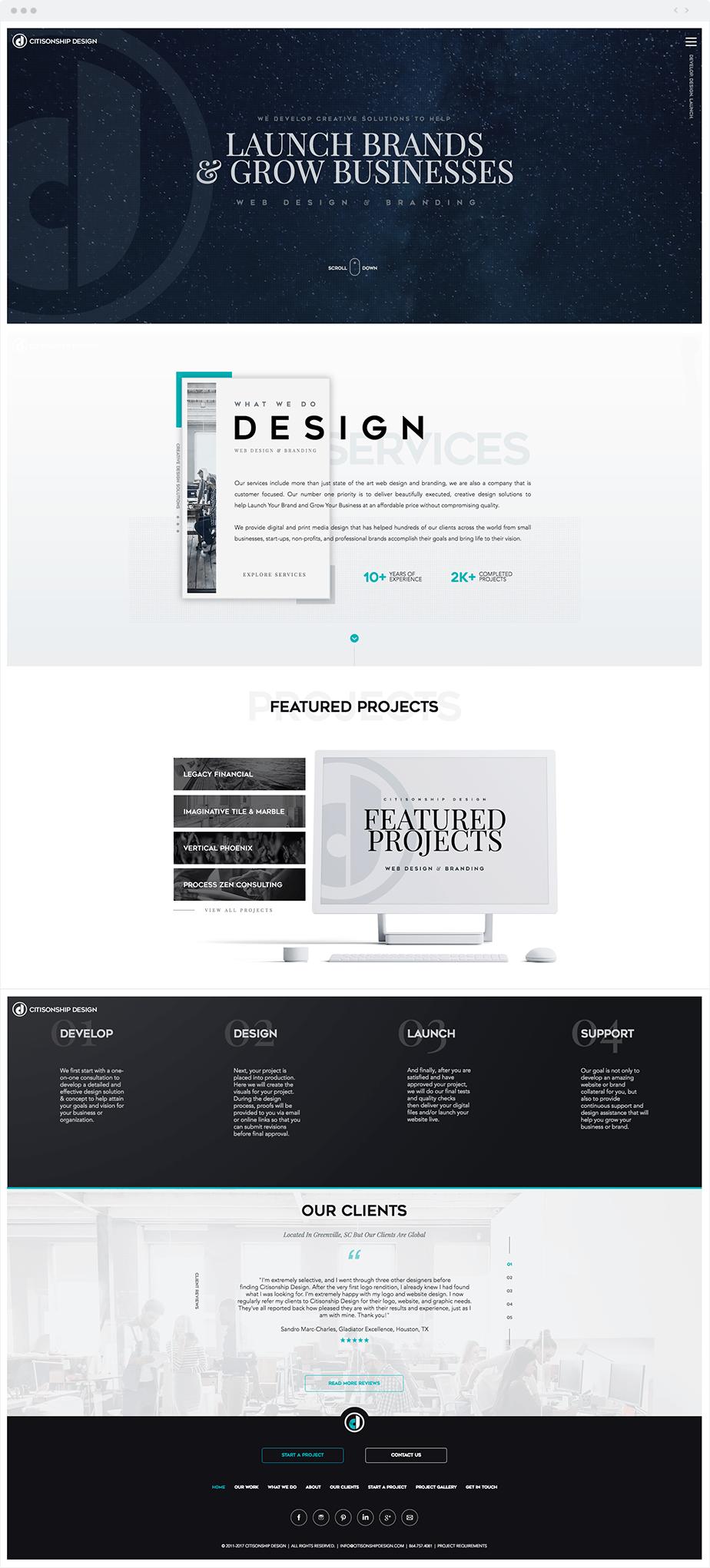 Site com Wix Code: Citisonship Design