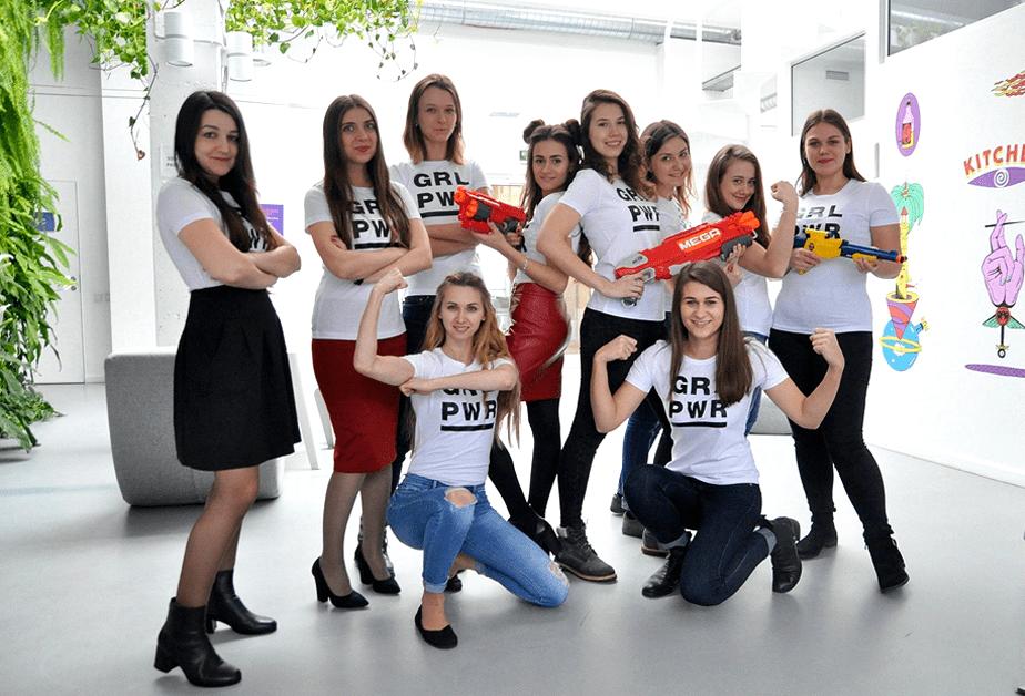Dia Internacional da Mulher no Wix - Dnipro, Ucrânia
