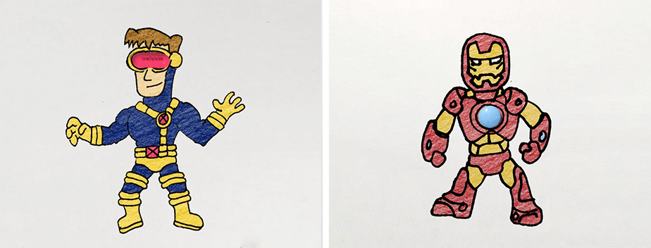 Hero Doodles por Denny Kurien