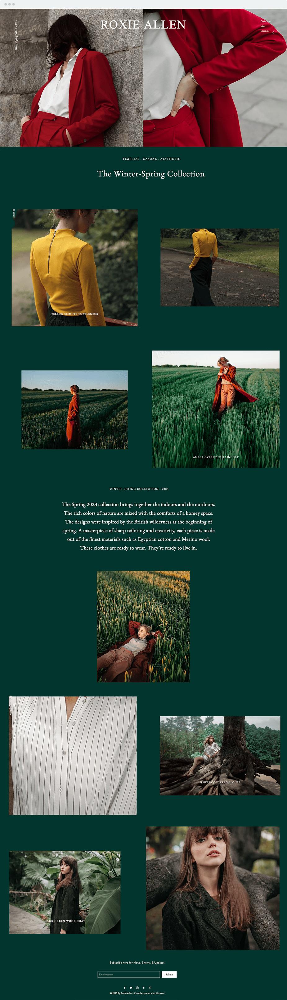 Template para Designer de Moda