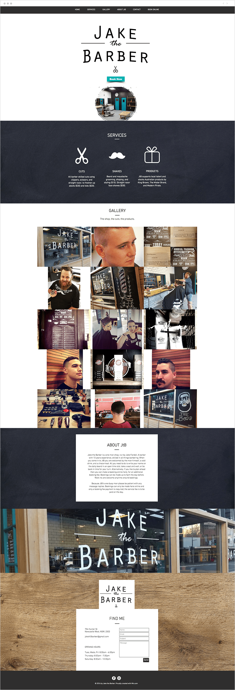 Site com Wix Bookings: Jake The Barber