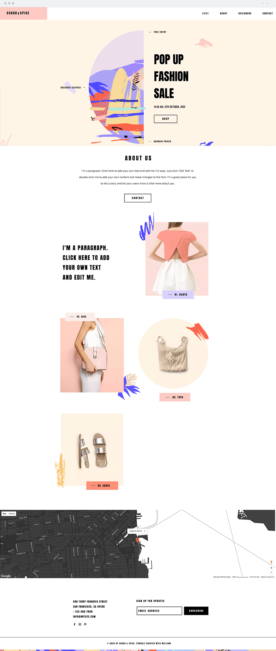 Template Pop Up Fashion Store