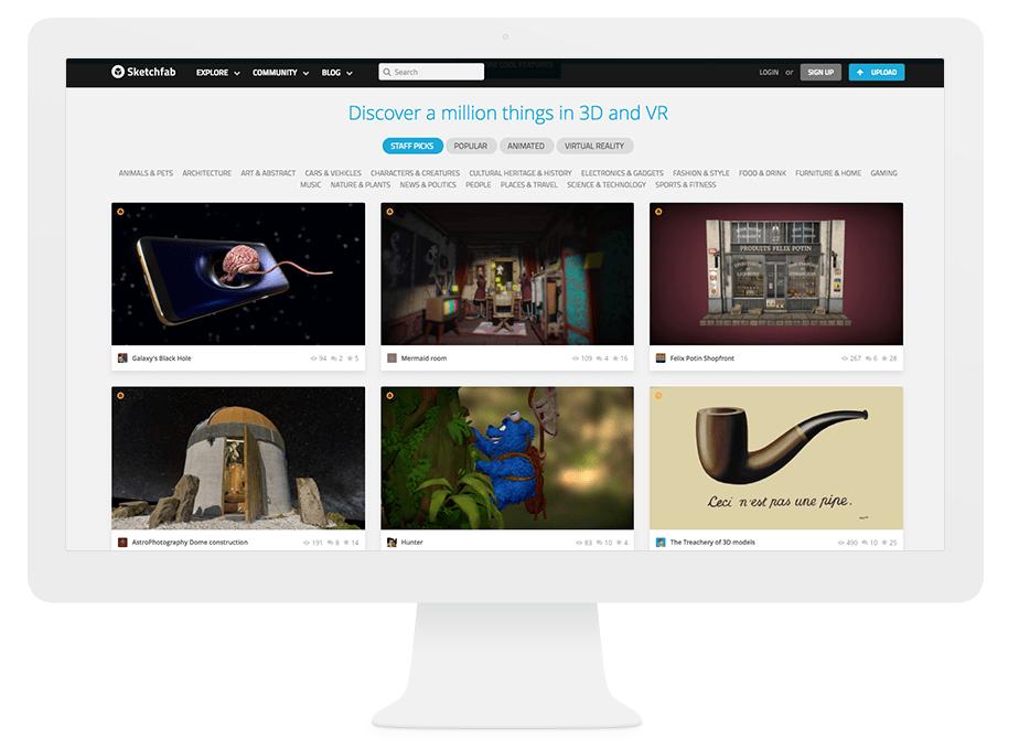 Onde Nossos Melhores Designers Encontram Inspiração na Internet: Sketchfab