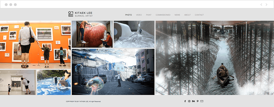 Site Wix de Kitaek Lee