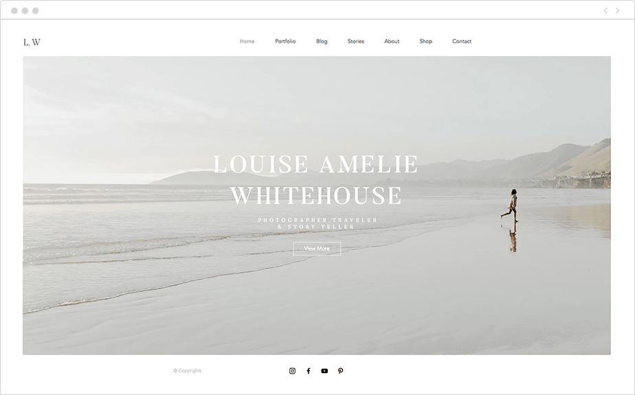 Site Wix de Louise Amelie Whitehouse